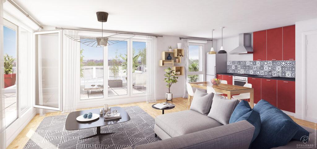 Vivre dans un programme immobilier neuf, c'est bénéficier du confort de la norme RT 2012