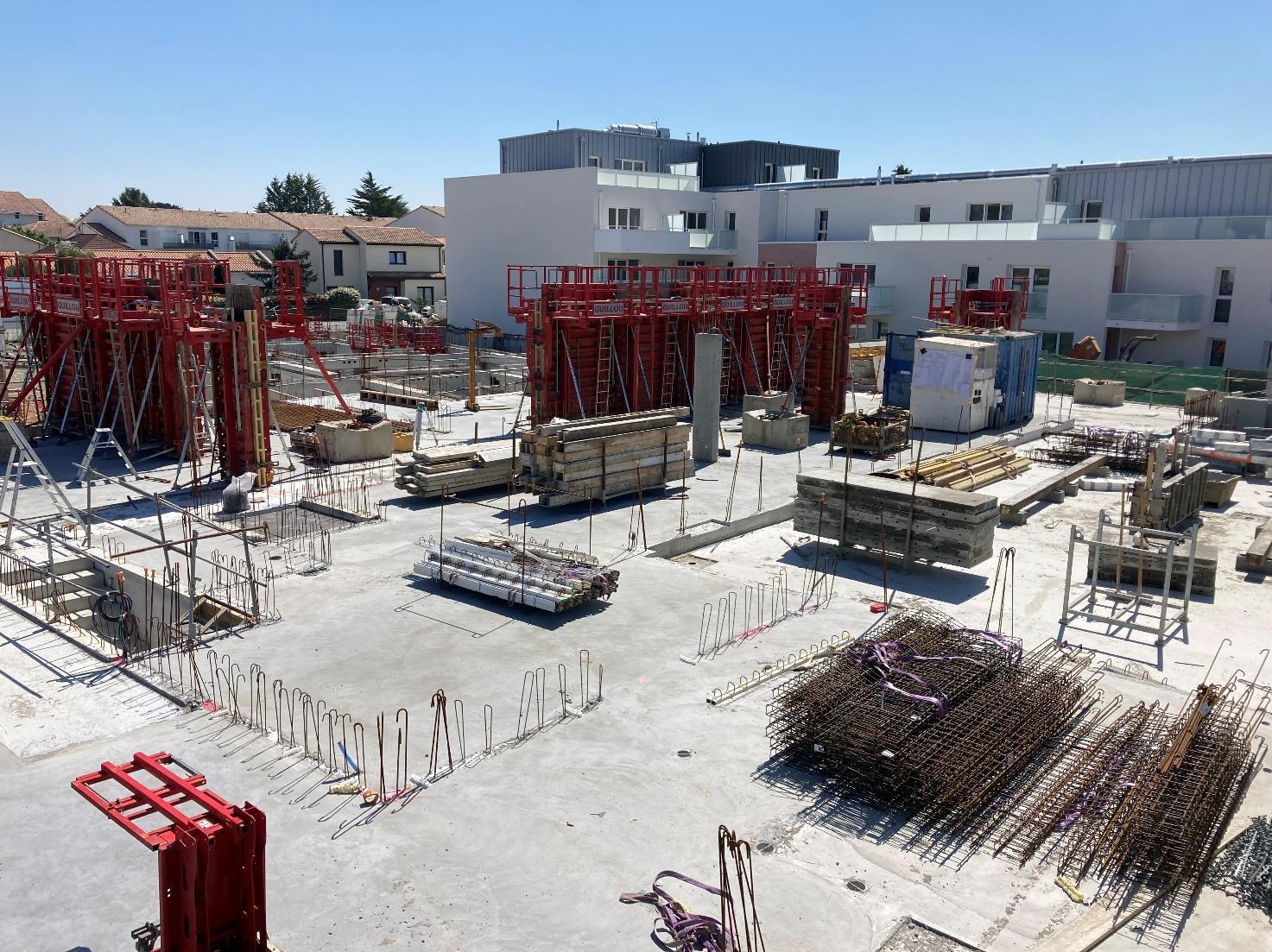 Suivi de chantier : les Pléiades aux Sorinières (44)